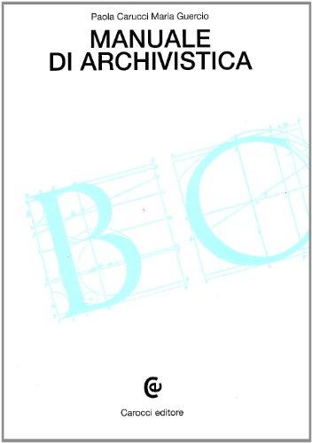 Manuale di archivistica PDF
