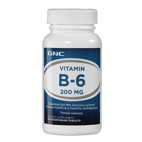 Gnc Vitamin B-6 200, Tablets, 100 Ea