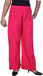 Unicraft Women's Cotton Palazzo (unicraft-015Magenta)