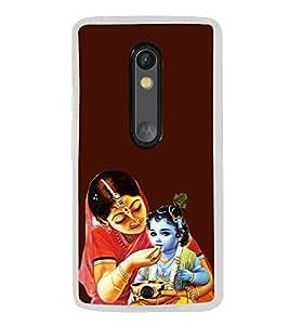 ifasho Designer Phone Back Case Cover Motorola Moto X Play ( Owl Art Face Tattoo )