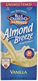 Blue Diamond Breeze Unsweetened Vanilla, 32-ounce (Pack of 6)