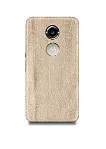Brown Fabric Moto X2 Case