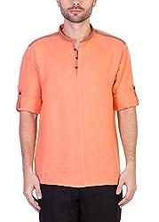 Desam Men's Linen Kurta Orange 44