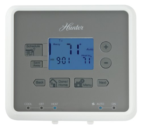 Hunter 44272 5-Minute 5-1-1 Day Programmable Thermostat, White