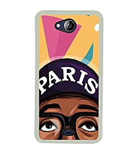 Cool Dude 2D Hard Polycarbonate Designer Back Case Cover for Micromax Canvas Play Q355