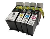 Generic Lexmark 100 XL 4PK Ink Cartridge Black Cyan Magenta Yellow Impact S301 S305 by Generic