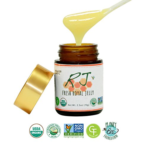 Greenbow Organic Fresh Royal Jelly 2.5oz (70g) USDA Organic and Non-GMO ... (Japanese Royal Jelly compare prices)