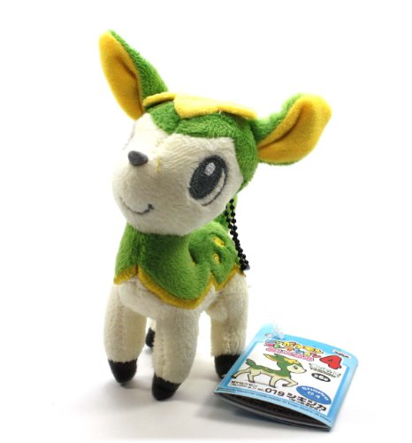 "Banpresto My Pokemon Collection Best Wishes Plush Ball Chain - 47509 - 5"" Summer Green Deerling/Shikijika - 1"