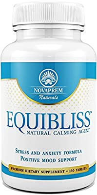 Equibliss Anxiety and Stress Relief Supplement - 180 Tablets with a Premium Herbal Blend - Enhance Your Mood and Experience Total Relaxation - Reduce Stress and Anxiety the Natural Way with Equibliss