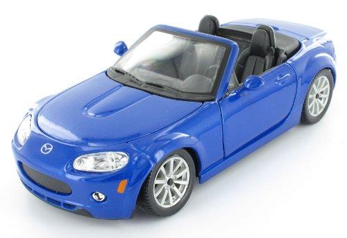 Bburago 2011 Star 1:24 Scale Metallic Blue Mazda MX-5 Miata (2007) (Mazda Miata Model Car compare prices)