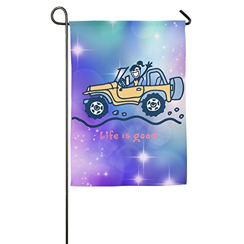 Personalized Decorative Welcome Polyester House Flags Printed Jeep Life Is Good Flag For Indoor/Outdoor With Two Size - 1218 Or 1827 Inch (Life Is Good Poster compare prices)