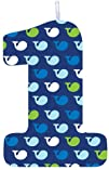 Creative Converting Ocean Preppy Boy 1St Birthday Molded Candle