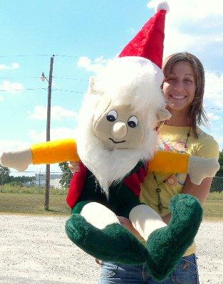 Giant Stuffed Christmas Elf