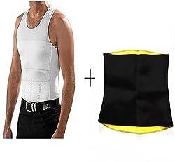 melt n slim men vest with hot shaper neotex belt-P
