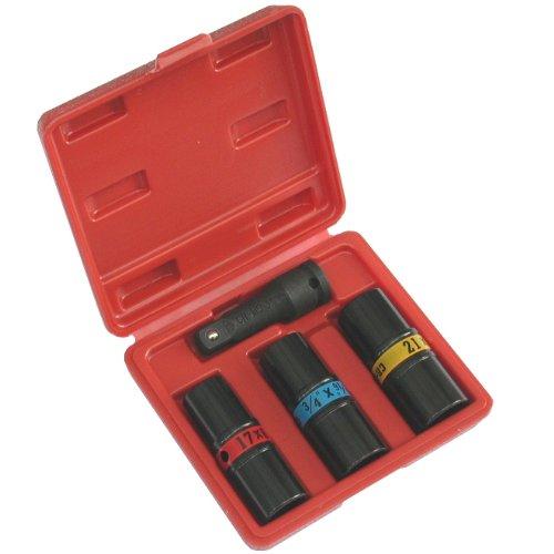 Anytime Tools 6 Sizes Impact Flip Lug Nut Socket Set METRIC/SAE 1/2