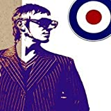 Imagenation Paul Weller Mod Retro Logo - Framed Canvas Art Print : Size - 18CM X 18CM X 3CM DEPTH / 7