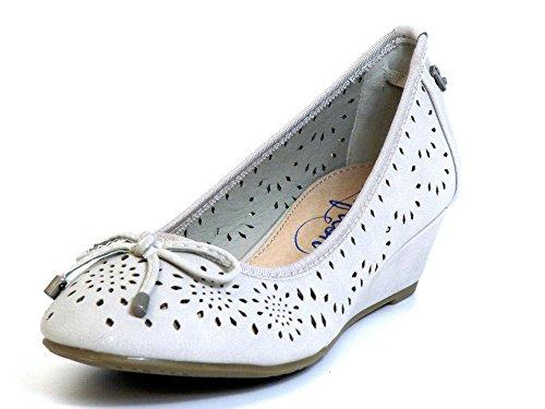 Donna scarpa décolleté grigio, (beige) 61726 HIELO