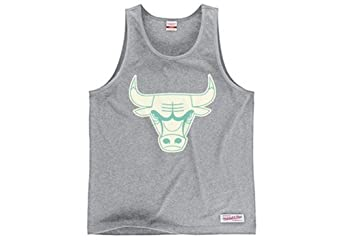 Chicago Bulls Mitchell & Ness Glow in the Dark Mens Tank Top by Mitchell & Ness
