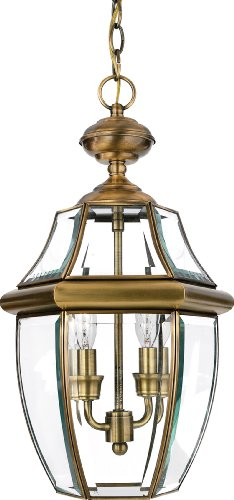 Best Quoizel NYA Newbury Light Outdoor Hanging Lantern Antique Brass