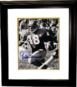 Gale Sayers signed Kansas Jayhawks 8x10 Photo Custom Framed by Athlon+Sports+Collectibles