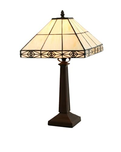 Legacy Lighting Simply Mission Table Lamp, Burnished Walnut
