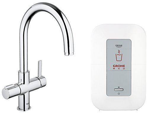 0f7461b159d Buy Cheap Grohe Red Duo 30083000 Sink Tap and Single Boiler 4 L (for  Instant Boiling Water) Chrome