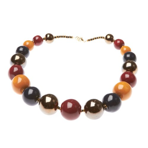 Kazuri Tango Necklace - Ox Blood