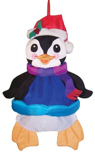 In the Breeze Holiday Penguin Wind Friend 3D Windsock