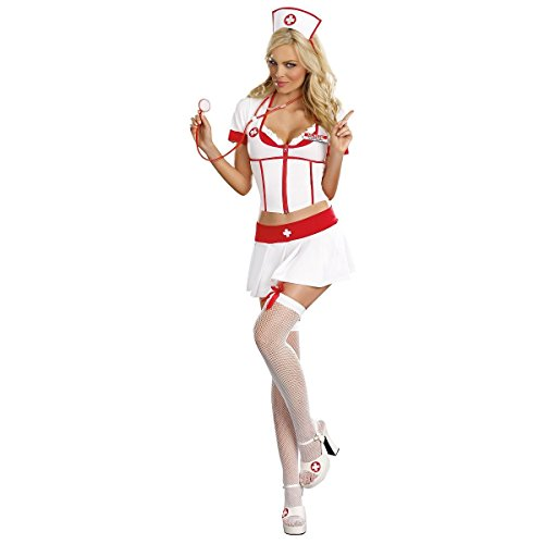 GSG Nurse Anita B. Naughty Costume Adult Halloween Fancy Dress (Dark Naughty Nurse Costume)