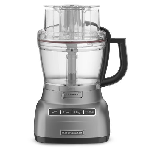 KitchenAid 13-cup Die-Cast Food Processor, KFP1344MC: m&#1077tallic chrome