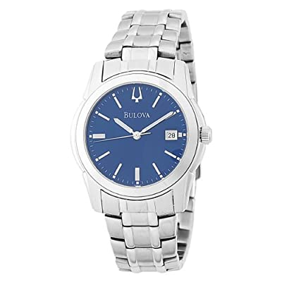 Bulova Men's 96G47 Blue Silver-Tone Bracelet Watch