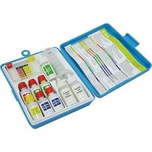 Kokido 6 way swimming pool water test kit swimming pool liquid test kits patio for Swimming pool test kits amazon