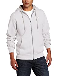 Champion Men's Full-zip Eco Fleece Jacket Hoodie, White, Medium