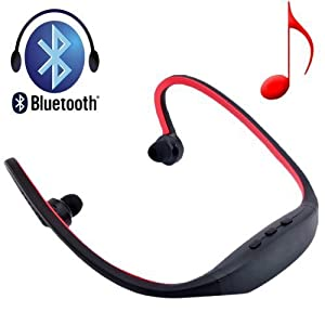 Patuoxun® Sport Musik Bluetooth Kopfhörer (kabellos und freihand); geeignet für iPhone 6 6 PLUS 5S 5C 5 4S, iPad Air, iPad Mini, iPod, Macbook, iMac, Sony, Nokia Lumia 920, Samsung Galaxy S5, Galaxy S4, HTC One M8, Google Nexus, Notebook, PC, Skype, MSN, PS2, Xbox Rot rot