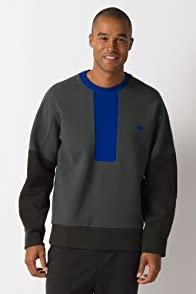 Fashion Show Color Block Crewneck Pique Milano Sweatshirt