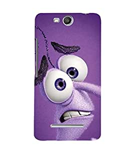 EPICCASE Funny Face Mobile Back Case Cover For Micromax Canvas Juice 3 Q392 (Designer Case)
