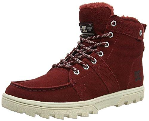 DC Shoes WOODLAND M, Stivaletti a gamba corta mod. Classics, senza imbottitura uomo, Rosso (Rot (Syrah SYR)), 44.5