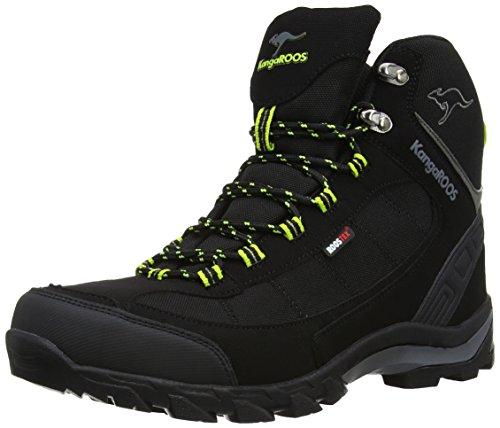 KangaROOS K-Trekking 3008M, Scarponcini outdoor Uomo, Nero (Schwarz (black/lime 580)), 43