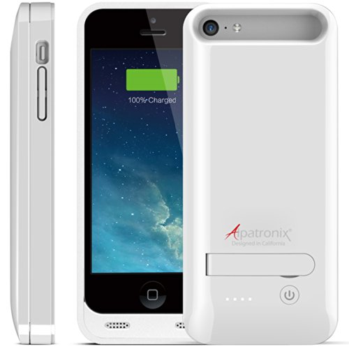 Alpatronix Bx120Plus Apple Mfi Certified Extended Protective Battery Case For Iphone 5S, 5C & 5 With Ultra Slim Removable Rechargeable External Battery Charging Case And Built-In Stand: Ios 7+ Compatible - 2400Mah Built-In Battery / Slimfit / Lightweight