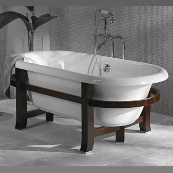 Jacuzzi EV11000 Era Freestanding Collection Wood Frame with Legs, Rosewood Finish