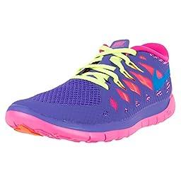 Nike Kids Free 5.0 (GS) Hyper Grape/Pht Bl/Hypr Pink/Vlt Running Shoe 6.5 Kids US