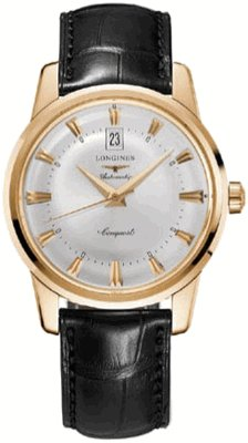 LONGINES Watch:NEW LONGINES HERITAGE COLLECTION CONQUEST MENS WATCH L1.645.8.75.4 Images