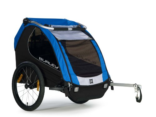 Burley Design Encore Bike Trailer, Blue front-31333