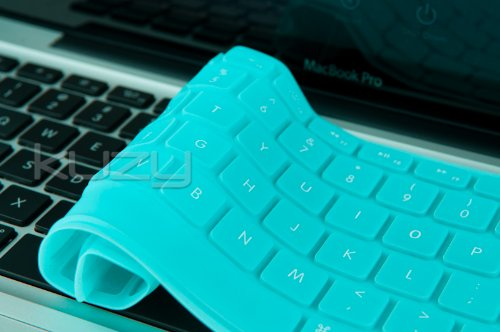 Buy  Kuzy - Solid Hot TEAL Blue Keyboard Cover Silicone Skin for MacBook Pro 13