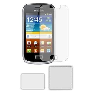 6 x Protector de Pantalla para Samsung GT-S6500 Galaxy Mini 2 II - Láminas de protección / Clear Screen Protectors