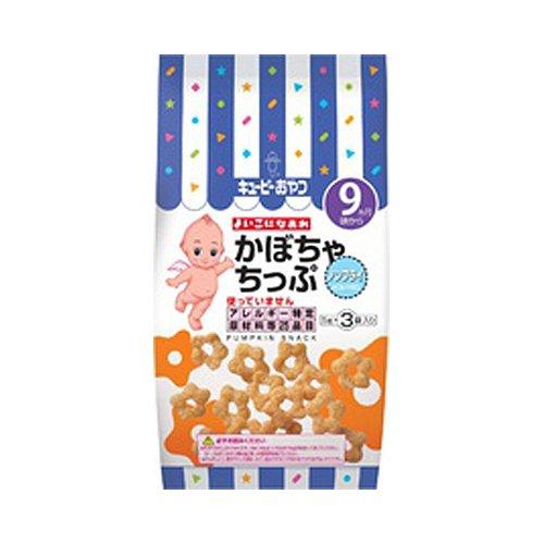 キューピー よいこになあれ かぼちゃちっぷ 5g×3袋(ベビーフード9か月〜) (番号:581 / 注意!商品の内訳は「1ケース(12個)」のみ)