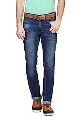 V Dot Men's Formal Trousers (8907445364891_VDDN316D03927_36W x 32L_Dark Blue Solid)