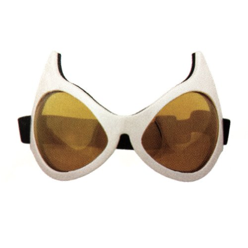 White Frames Cat Eye Goggles Superhero Cosplay Catwoman Batman Anime Big Glasses