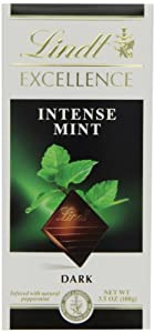 Lindt Excellence Intense Mint Dark Chocolate Bar, 3.5-Ounce Packages (Pack of 12)