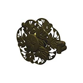 Ames True Temper 2397200 Decorative Swivel Wall Mount Hose Reel With Antique Bronze Finish With 100-Foot Hose Capacity